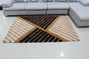 Hand orientale Tufted Flooring Rubber Back 3D Polyester Yarn Carpet con Textile