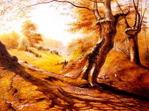 Het nieuwste Olieverfschilderij van het Landschap