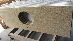 Countertop van de Keuken van het Graniet van de Zonsondergang van Padang Gele G682 Gouden