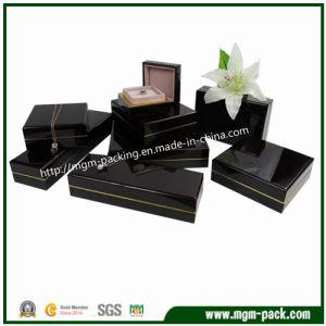 Contenitore di monili di legno del piano nero di alta qualità