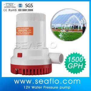 Sistema de agricultura 1500gph estanque Piscina de 12V bomba sumergible eléctrica solar