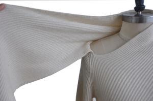 El Cashmere Jersey mujeres mezcla de tejidos de punto Jersey largo con bufanda