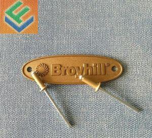 Design de moda de impressão personalizado crachá de alumínio com PIN