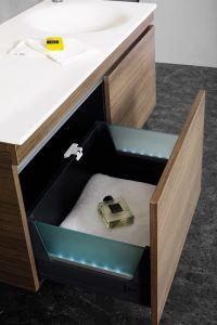 En contra de la Vanidad, Tradintional acrílico modificado con el nuevo diseño de la cuenca del cuarto de baño Cabient Superficie sólida