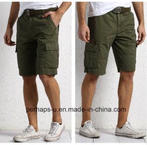 Pantaloni del carico del cotone di verde dell'esercito del Mens di modo