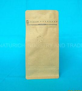 Quad sellado refuerzo lateral de la bolsa de café de la Junta de cuatro a ocho de la bolsa de café de Kraft Kraft junta del lado de la bolsa de café