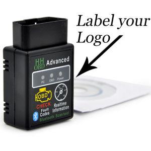 OBD2 Elm327 Bluetoothの無線自動診断スキャンナーの黒をカスタマイズしなさい