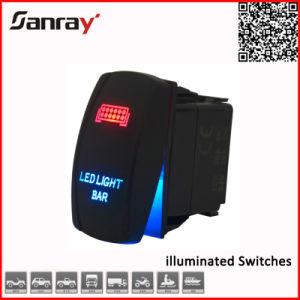Estilo de ARB LED azul con retroiluminación LED interruptor basculante