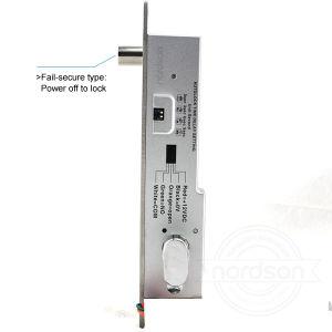 Serratura elettrica del bullone di goccia di solidità di venire a mancare di DC12V/24V del blocco per grafici sicuro dello stretto con il tasto Emergency