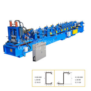 C Canal Profil panne machine à profiler à froid