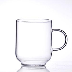 Einzelne Wand-hohe Borosilicat-Glas-Tee-Wasser-Kaffeetasse