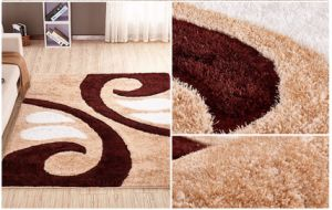 Shaggy tapis en soie polyester