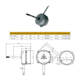 Sin escobillas eléctricos pequeños orientados DC Motor CC para acondicionadores de aire