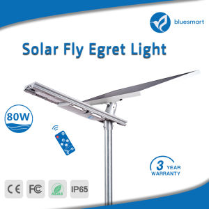 luz de rua Integrated solar Energy-Saving do sensor de movimento do diodo emissor de luz 80W