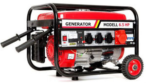 Fase 3 generador de gasolina con asas y ruedas