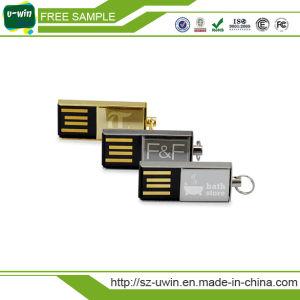 Мини-Металл вращающихся 8GB Серебристый флэш-диска USB
