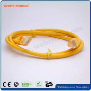 UTP Cat5e Cable Cable de conexión de red en color amarillo