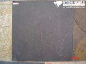 De zwarte Tegels van de Lei voor Muur/Bevloering (mm092)