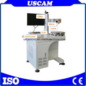 Marcador de fibra láser grabador de la máquina en materiales metálicos