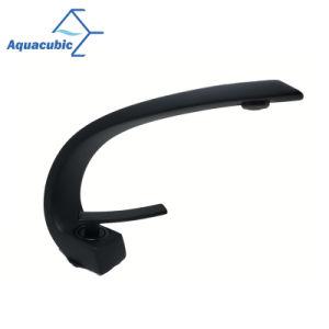 マットの黒い浴室の長い首の単一のハンドルの洗面器のコック(AF8258-6B)