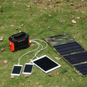 100W携帯用世帯の太陽エネルギーの発電機の充電電池155wh