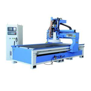 二重ワークテーブルのパネルの家具の生産ラインCNCのルーター機械