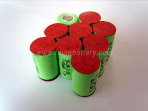 2/3AA 1,2 V 600mAh NiMH batterie rechargeable Nickel métal hydrure pour feux d'urgence
