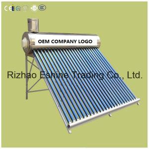 統合された非圧力鋼鉄外タンクが付いている太陽給湯装置