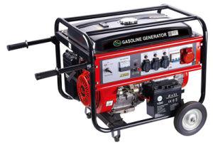 Gerador de gasolina de três fases de utilização doméstica portátil com rodas e pegas