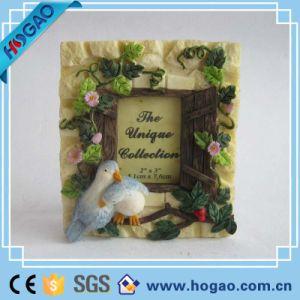 Hechos a mano cerámica Polyresin cuadrados Photo Frame Picture (HG031)