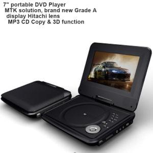 Leitor de DVD portátil de 7 polegadas com jogo de TV USB