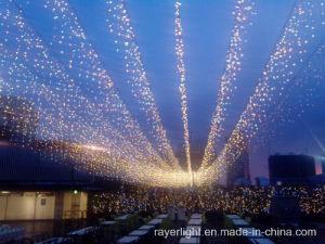 Luz de música Icicle branca LED Cortina de Luz de fadas de decoração de interiores