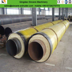 HDPEの黄色か黒いジャケットの管が付いている埋められた前絶縁された管の製造設備