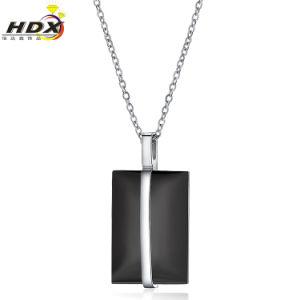 方法人の黒いステンレス鋼の宝石類のネックレスのペンダント