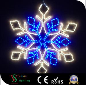 Im Freien Schneeflocken des Weihnachtenled