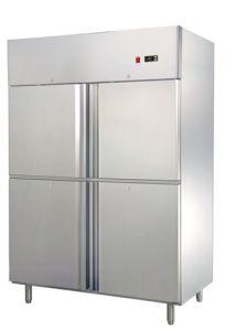 La CE aprobó la GN en posición vertical de alta calidad nevera (GN650C1)