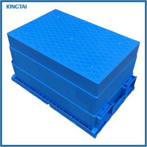 contenitore mobile di plastica di Tote di prezzi inferiori 60L con il coperchio allegato