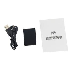 Het mini GSM het Luisteren van de Monitor van het Apparaat N9 AudioToezicht Activering van de Stem van de ReserveTijd van 12 Dagen de Persoonlijke Mini bouwde Twee Mic in