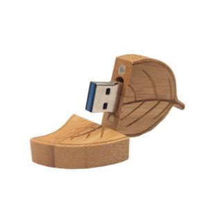 木製の葉のペン駆動機構4G 8g 16g 32g USBのフラッシュ駆動機構のメモリ棒Pendrives