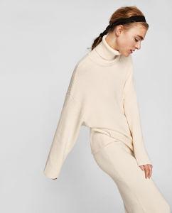 女性の方法様式の冬のウールのセーターの服(RS-034)