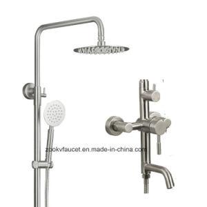 304 Conjunto de ducha de acero Stainess Mezclador baño ducha de mano