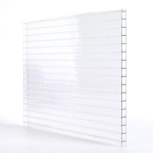Trois transparent en polycarbonate pour toiture Panneau mural