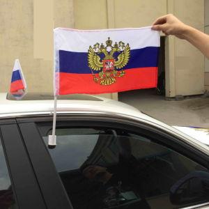 Het verse/Nieuwe Materiaal Gemaakt de Engelse StandaardVlaggen tot van de Auto met Sterke Pool kan het Aangepaste Autoraam van het Team van de Sport zijn