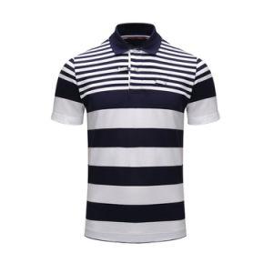 주문 주문을 받아서 만들어진 옷 의류 보통 공백 또는 줄무늬 인쇄하거나 인쇄한 자수 의복 또는 의복 100%년 면 불쾌 또는 저어지 복장 남자의 골프 폴로
