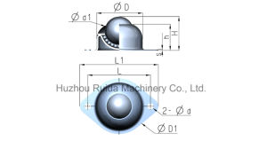 Wa-01-uma roda de bola de transferência para o Transportador de rolos