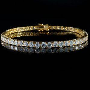 O Hip Hop Diamond 925 Sterling Silver Diamond Bracelete Ténis Mjcb030