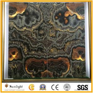 室内装飾の床または壁のための自然な磨かれた贅沢で黄色いオニックスのタイル