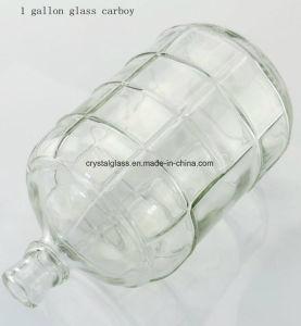 5gallon de net In reliëf gemaakte Verpakking van het Bier van de Fles van de Mandefles van het Glas