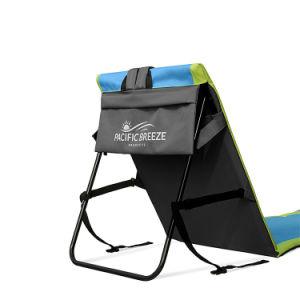 容易なFoldable丈夫な金属フレームの携帯用ラウンジのビーチチェアのマット