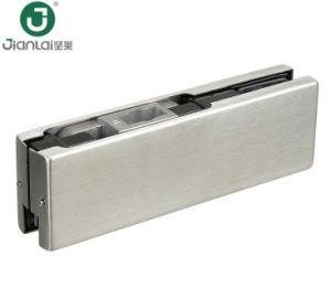 Gire a parte inferior da porta de vidro patch Patch hidráulica de montagem em aço inoxidável